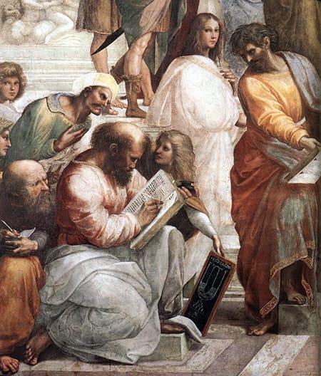 Ptágoras pintado por Raphael