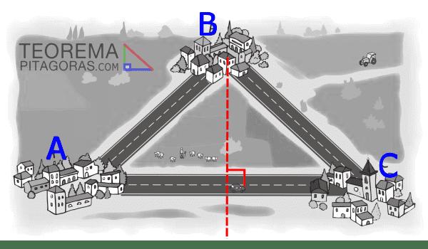 aplicacion del teorema de Pitágoras