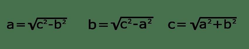 ecuaciones de pitágoras