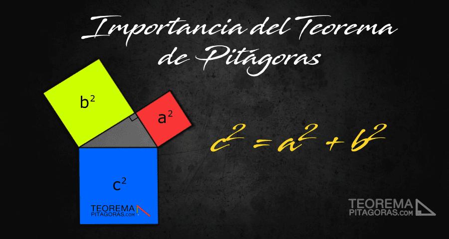 Importancia del teorema de Pitágoras