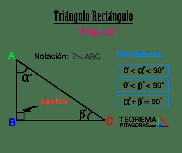 Ángulos del triángulo rectángulo